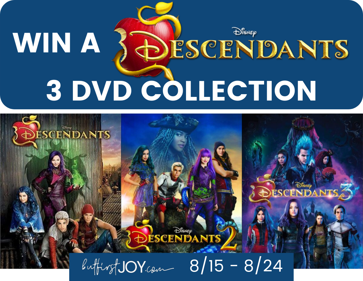 Enter for your chance to win all 3 Disney Descendants DVD Movie Collections. These are the best Disney Descendants gifts for super fans of the Disney channel movie series.