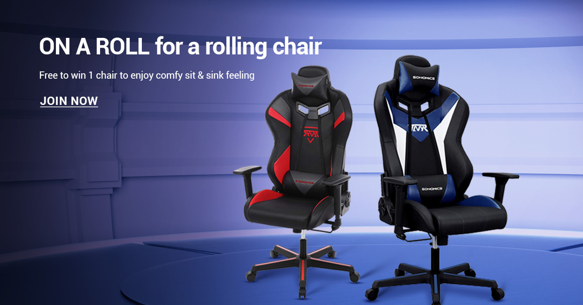 Enter for your chance to win a SONGMICS Gaming Chair. Two lucky winners will be selected randomly.