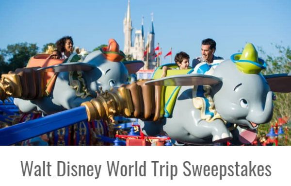 Enter for your chance to win a 6-night Walt Disney World Deluxe Resort voucher for up to four people.