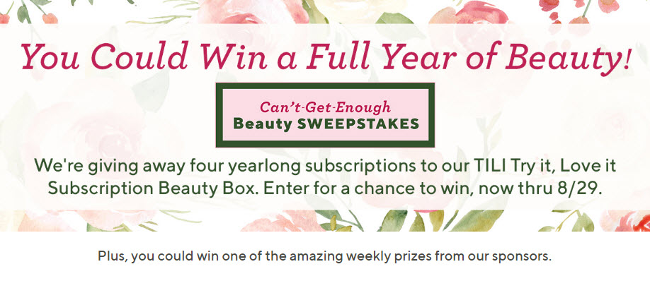 QVC Can't-Get-Enough Beauty Sweepstakes (Weekly Drawings