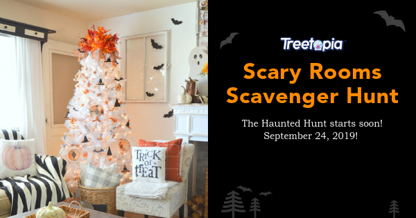 Treetopia's Scary Rooms Scavenger Hunt is live. Enter up to 97 times for for your chance to win Treetopia Christmas trees and decorations. Search the featured website and blog to find where the Treetopia logo is hiding to answer today's giveaway question.