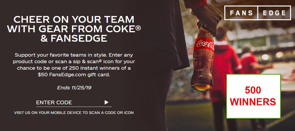 250 WINNERS! Enter for your chance to win to a $50 FansEdge gift card. FansEdge is your NFL Shop, MLB Shop and NBA Store with same day flat rate shipping from the USA on most items!