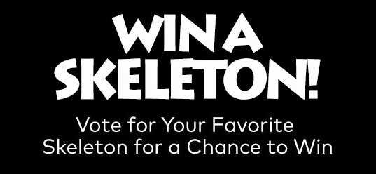 16 WINNERS! Enter for your chance to win one of 16 Oriental Trading Company skeletons. Vote for your favorite skeleton decor and enter to win an Oriental Trading skeleton! Hurry, this giveaway ends September 21st! Please submit no more than one entry each day.