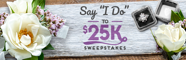 Now through October 18 at 5pm ET, enter the HGTV Say I Do to $25K Sweepstakes twice daily for your chance to win $25,000!