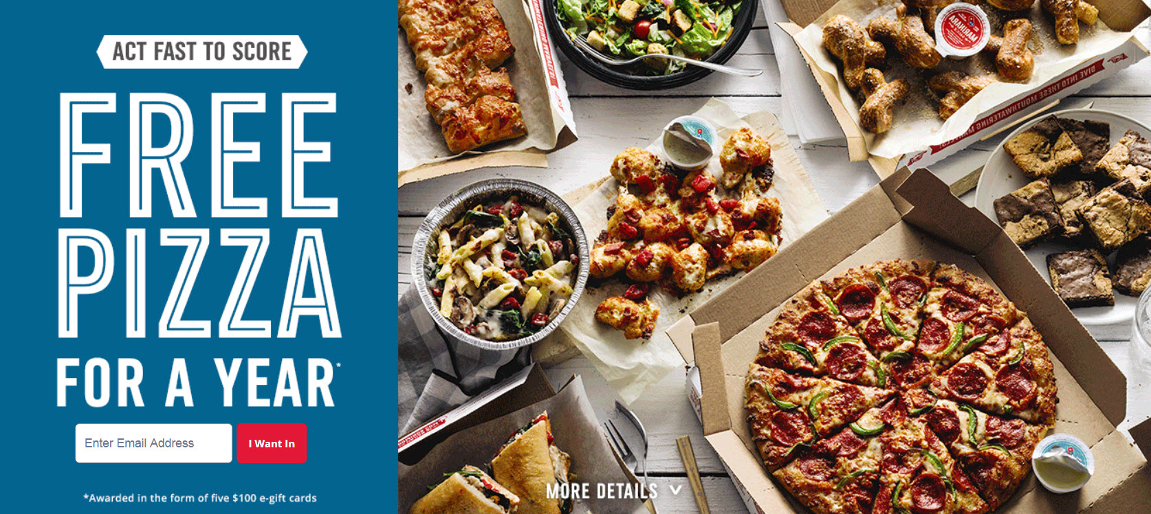 5,003 WINNERS! Enter the Dominos Fall Into Free Pizza Quikly Giveaway for your chance to win Free Domino's e-gift cards