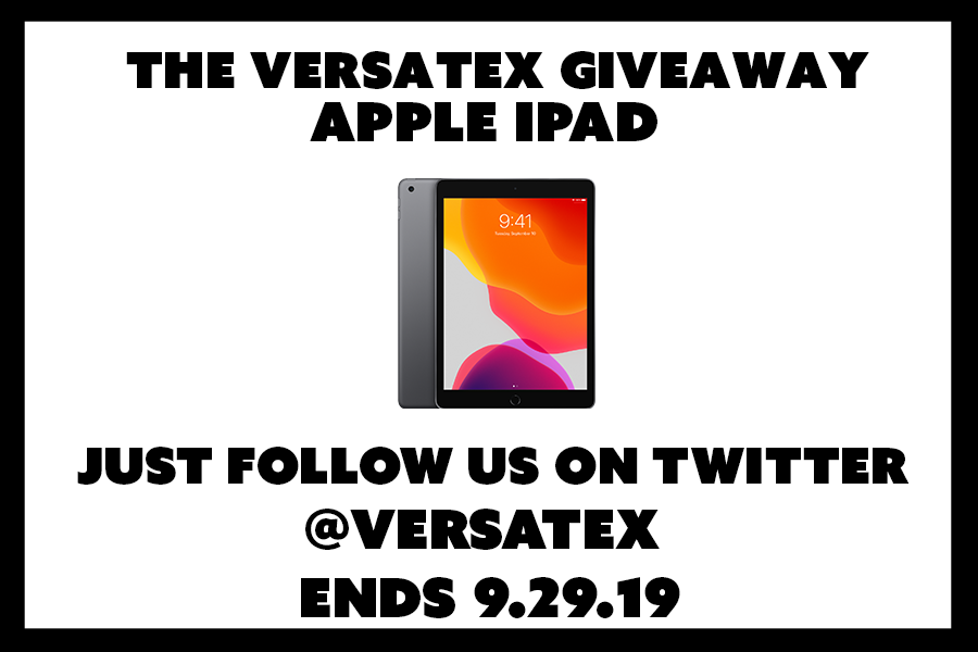 Enter for your chance to win an Apple iPad from Versatex Trimboard. The rules are simple, just spread the word by retweeting and following @versatex on Twitter. You gain an extra entry by retweeting. Good luck and enjoy!
