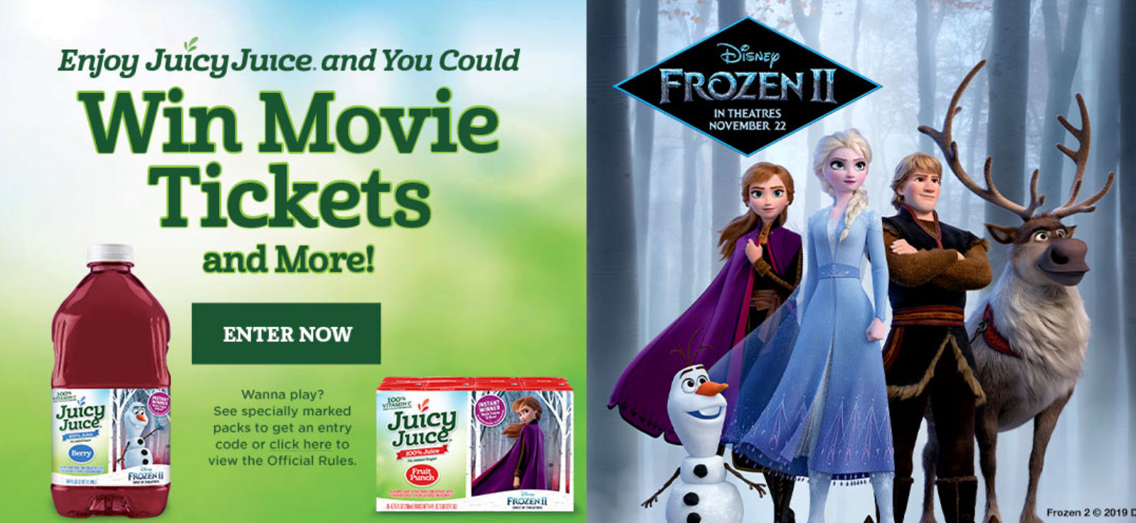 13,052,258 WINNERS! Play the Juicy Juice Movie Tickets and More Instant Win Game for your chance to win