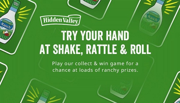 166 WINNERS! Join Hidden Valley Ranch's Ranchology Rewards and play the What's For Dinner instant win game for your chance to win