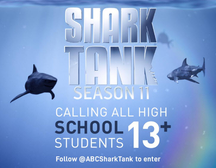 High school students! Enter for your chance to win a trip 4 to attend a taping of Shark Tank and meet two or more of the Sharks in Los Angeles, CA
