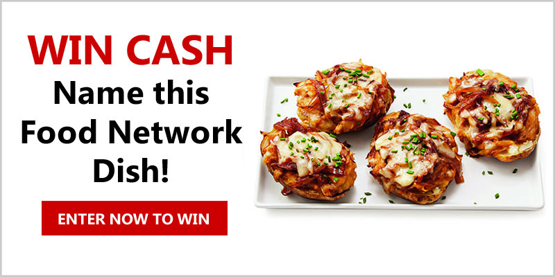 Dream up a clever name for Food Network Magazine's stuffed potatoes and you could win big! Readthis recipeand submit your most inventive name by October 31. The winner will receive $500, and three runners-up will each receive $50!