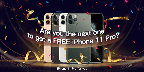 Play the Tinkleo Regular Lucky Spin game to win prizes instantly! You could win a Mini Juicer, LED Aroma Humidifiet, discount coupons and 3 lucky winners will win an iPhone 11 Pro!