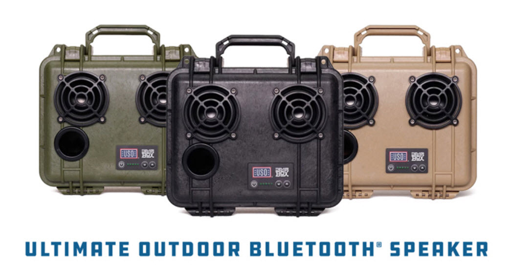 Enter for your chance to win a USO DemerBox Bluetooth rugged, waterproof, outdoor speaker.