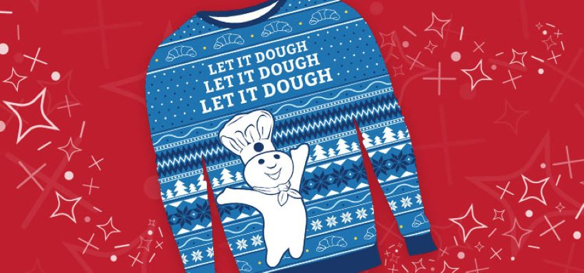 500 WINNERS! Enter to win Doughboy Christmas sweaters for your family!