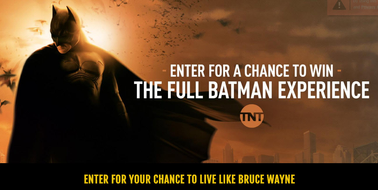 Enter for your chance to live like Bruce Wayne in Los Angeles, California. You and a guest could win round trip tickets to Los Angeles, with a three-day/two-night hotel stay where you'll get a tour of the Warner Brothers lot and a ride in the Batmobile. You'll also get two tickets to Six Flags Magic Mountain, where you'll continue the quest to save Gotham by riding the Batman Ride, Riddler's Revenge and more. Enter now through December 1st.