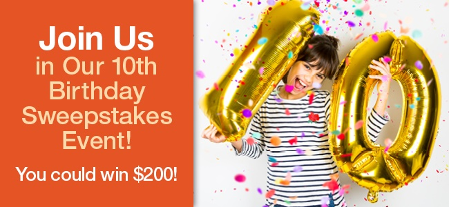 The HealthyChildren.org 10th Birthday Sweepstakes Event starts December 1st! Enter once a day through their birthday on December 10, for the maximum number of chances to win a $200 Visa gift card! There will be ten (10) winners in all.
