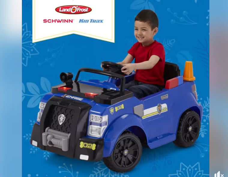 Enter for your chance to win a Schwinn bicycle, Kid Trax Paw Patrol vehicle, Mongoose Bicycle, or other Schwinn prizes when you enter the Land O'Frost Schwinn Giveaway daily on Facebook.