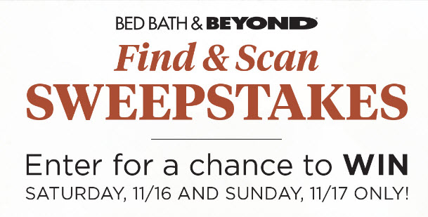 Enter for your chance to win a $500 Bed Bath & Beyond gift card or a Bluegreen Vacations trip for 4.