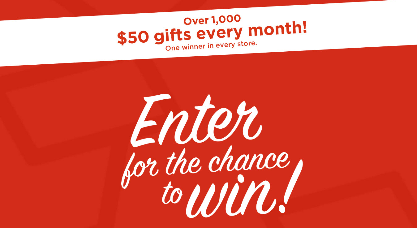 Enter for your chance to win one of fifty monthly prizes in Kohl's Rewarding the Everyday Sweepstakes.