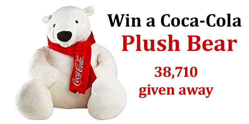 38,710 WINNERS! Play to win a Coca-Cola Polar Plush Bear instantly. You can play 5 times a day. Many will win! Coke Store is celebrating the 25th anniversary of the iconic Coca-Cola polar bears!