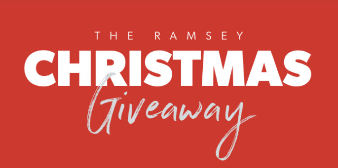Enter the Ramsey Christmas Cash Giveaway daily for a chance to win cash! We'll pick winners for the $500 weekly prize as we count down to Christmas. Plus, they will draw one winner out of all the entries for the $5,000 grand prize!
