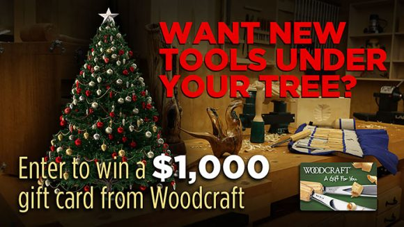 Today's Homeowner Set up Shop with Woodcraft $1,000 Sweepstakes