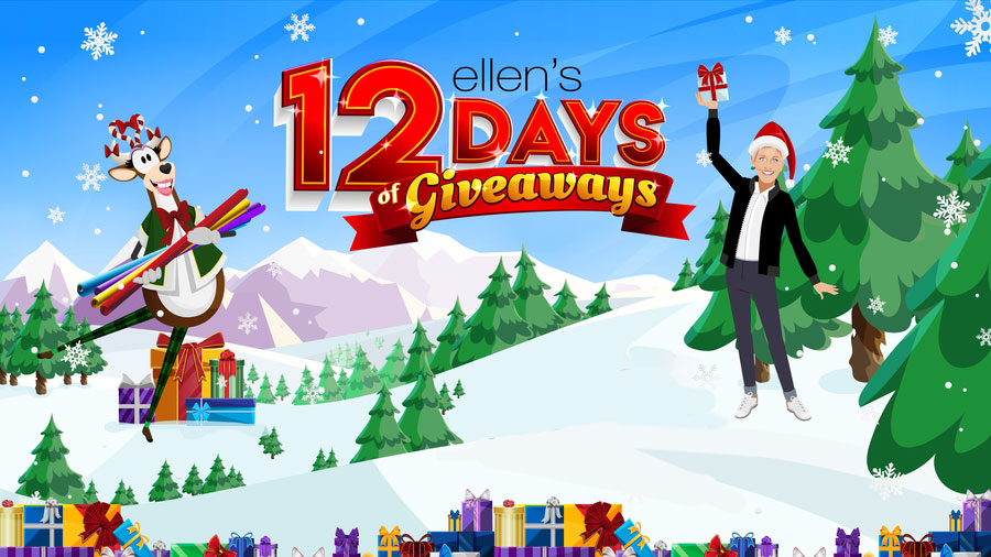 How to get on the Ellen's 12 Days of Giveaways Show