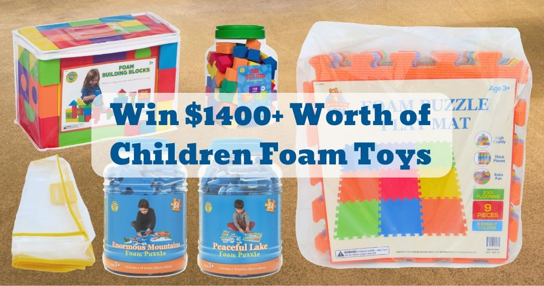 To celebrate the holiday season, Premium Joy is giving away children's foam toys valued at over $1,400! Foam toys can be a great tool for parents (and educators) to promote basic life skills in children such as problem solving and self esteem. All playthings offered are vibrant, safe, and very durable.