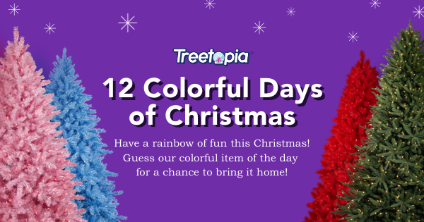 Treetopia is giving away colorful Christmas decorations, wreaths, garland and a Gold Tinsel tree in their 12 Colorful Days of Christmas Giveaway. Enter daily for your chance to win and share to get bonus entries.