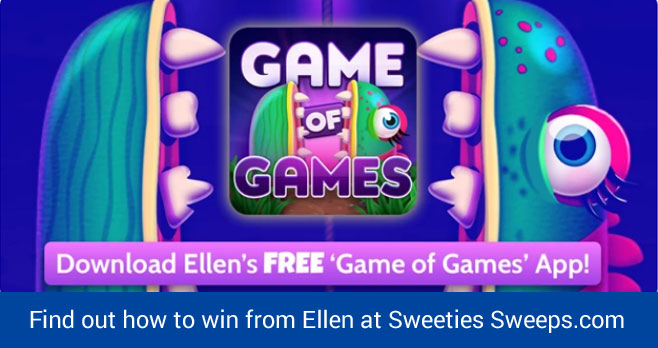 "Play #Ellen's Game of Games for your chance to win a prize pack containing each prize given to the studio audience at the Ellen DeGeneres show during each episode of ""Ellen's 12 Days of Christmas""."