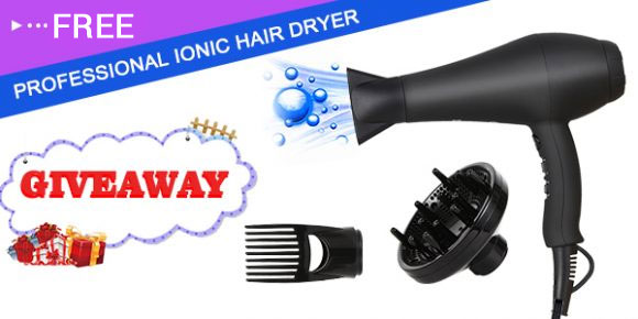 Enter for your chance to win a HEOMU Professional Ionic Hair Dryer or one of 90 discount coupons. The HEOMU professional Ionic hair dryer features Ionic Technology, a Detachable Filter, 2 Speed and 3 settings with 1875 Watt Power.