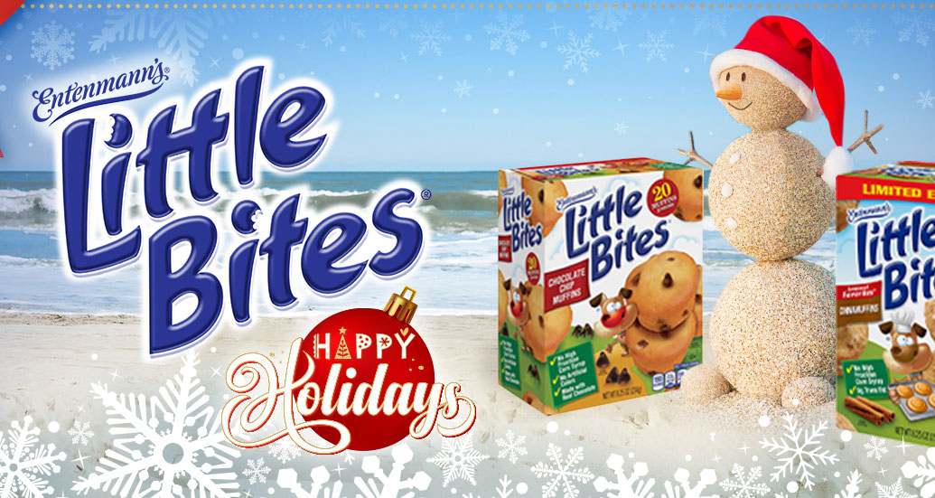 Happy Holidays from Little Bites. Enter for a chance to win a family vacation to Myrtle Beach plus weekly giveaways of Little Bites Product!