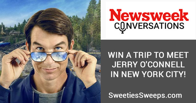 Enter for your chance to win to meet actor Jerry O'Connell and attend the live taping of his appearance on #Newsweek Conversations in New York City. Newsweek is sending one winner and a guest on a 3-day, 2-night trip to meet Jerry and attend the live taping of his January 20th appearance onNewsweek Conversations. This prize includes round trip airfare and hotel accommodations for two.