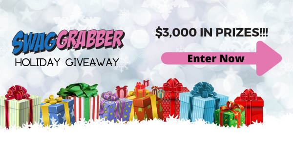 Enter for your chance to win a surprise box of goodies from Swag Grabber's prize stash. You could win appliances, things for the home, toys, gifts for guys, and more!