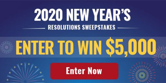 Enter for your chance to win$5,000 from Money Talk News.Are you already thinking about your money resolutions for 2020? Enter the Money Talks News 2020 New Year's Resolution Sweepstakes for your chance to win $5,000 to help make your financial dreams a reality!