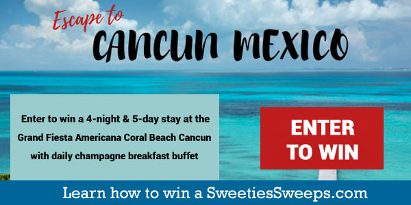 Enter for your chance to win a 4-night & 5-day stay at the Grand Fiesta Americana Coral Beach Cancun with daily champagne breakfast buffet for 2 & two 50-minute massages at the majestic Gem Spa including the 10-step hydrotherapy ritual provided by Grand Fiesta Americana Coral Beach Cancun; & $1,600 total for the trip provided by Travel Trivia, TripSavvy, Considerable, Katie Couric Media, and Zatoru.