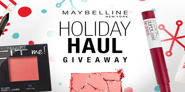 Maybelline is gifting their exclusive Holiday Haul makeup kit ( featuring #SuperStay Ink Crayon and $50 of #Maybelline products) to 30 lucky winners. Enter now for your chance to win a Free Maybelline beauty bundle.