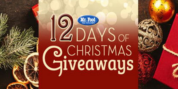 Enter for your chance to win prize from Mr. Food Test Kitchen. Every year Mr. Food gets together with a bunch of their friends to give you the chance to win fantastic holiday prizes. When it comes to spreading holiday cheer, the Mr. Food 12 Days of Christmas Giveaway is sure to do the trick.