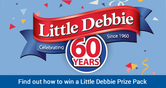 Enter for your chance to win a Little Debbie branded Prize Pack when you enter the Little Debbie America's Sweetheart for 60 Years Giveaways.