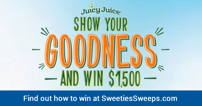 Show your kids' act of goodness and you could win $1,500 to help continue doing good! #JuicyJuice Your entry will go into one of two categories: kids ages 2-5 or kids ages 6-10