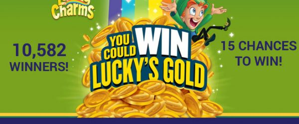 Lucky Charms is giving you the chance to Win Lucky's Gold instantly! Chase the rainbow by scanning boxes of specially-marked Lucky Charms to unlock your chance to win.