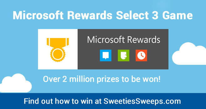 Are you ready to win big? Play Microsoft Rewards Select 3 for your chance to win one of 2,000,000 amazing prizes!