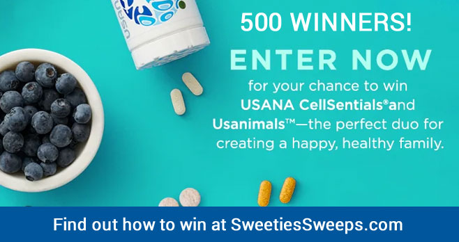 Enter for your chance to win a bottle of Usanimals and a USANA CellSentials pack when you enter the Dr Oz USANA CellSentials & Usanimals Sweepstakes.