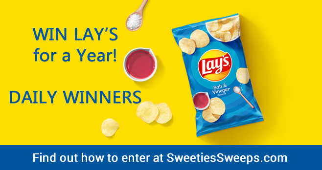 Enter for your chance to win Free Lay's potato chips for a year. A new winner will be chosen each day. Upload your pic of the new Lay's bag design or use the photo provided on the website to enter.