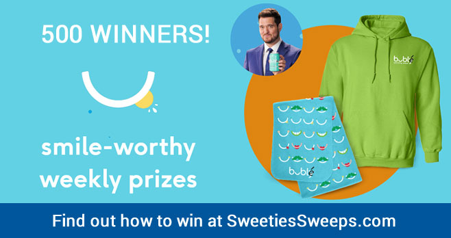 Spot the Buble Water or your chance to win weekly prizes #bublysweepstakes Find out how to enter to win at SweetiesSweeps.com