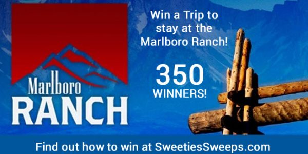 Marlboro is giving you a chance to win a Free trip to stay at their ranch. 350 Grand Prize Winners will be chosen. Enter for your chance to win