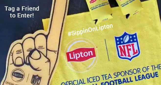 Enter for your chance to win an NFL & Lipton Tailgating Package #SippinOnLipton Tag your football-loving friends for your chance to win. You can enter on Twitter, Facebook and Instagram.