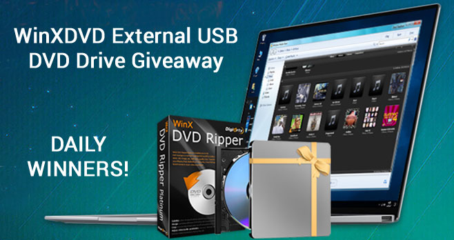 Enter to win an LG Electronic USB DVD Drive or a Free copy of WinX DVD Ripper Platinum.