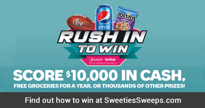 Pepsi-Cola and Frito-Lay are starting 2020 off with a bang and giving away over 10,000 prizes including NFL Season tickets, $10,000 cash, free groceries for a year, autographed helmets, footballs, and grocery store gift cards. Enter your code for your chance to win.