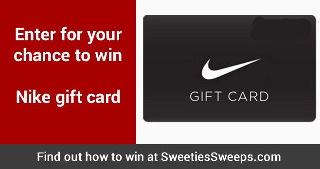 Enter for your chance to win Nike gift card