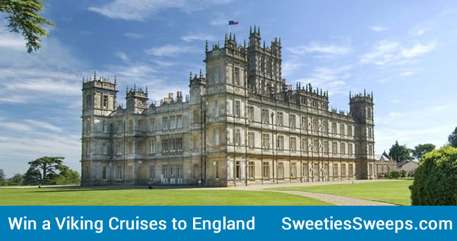 """Enter for a chance to win a 15-day Viking Cruises journey for two to Highclere Castle, the home of Downton Abbey. Explore the British Isles and Visit the Home of """"Downton Abbey"""" with The World's Leading Small Ship Ocean Cruise Line."""